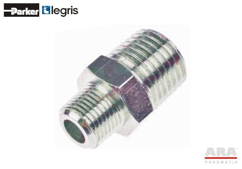 Nypel mosiężny niklowany Parker Legris 0900