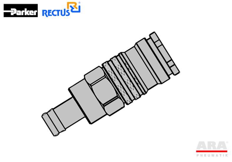 Gniazdo szybkozłącza pneumatycznego Parker Rectus 1700KATF