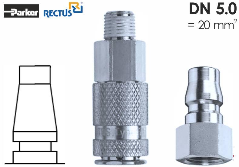 Szybkozłączka pneumatyczna Parker Rectus 17KA