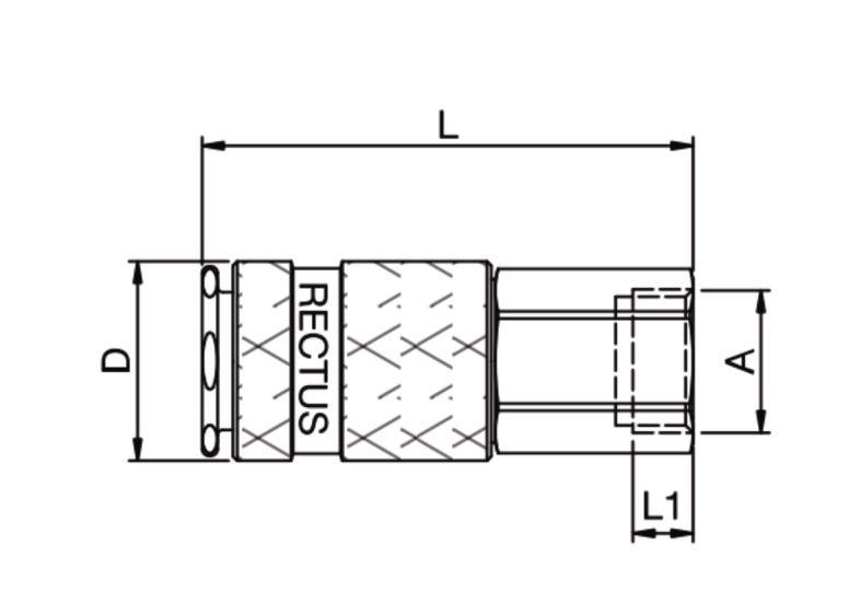 Szybkozłącze pneumatyczne Parker Rectus 17KAIW