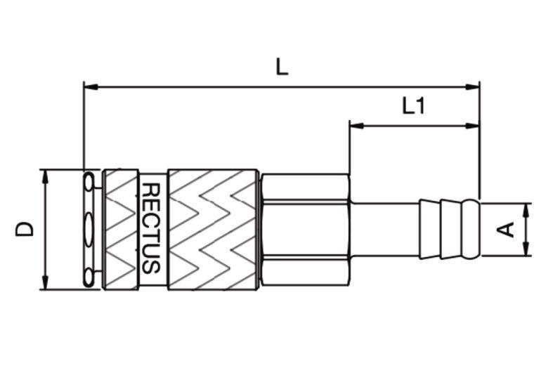 Szybkozłącze pneumatyczne Parker Rectus 17KATF