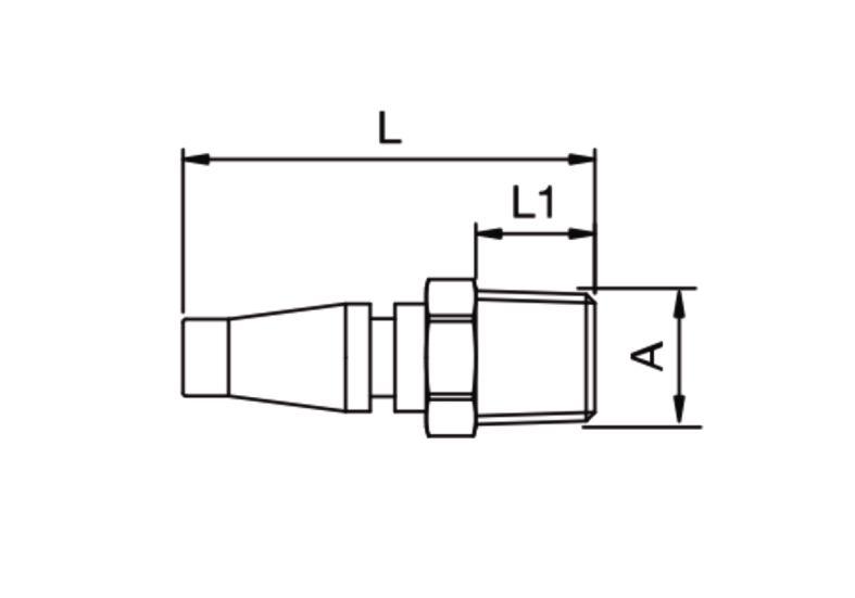 Szybkozłącze pneumatyczne Parker Rectus 17SFAK