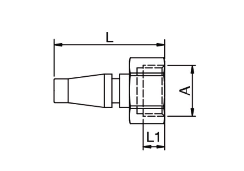 Szybkozłącze pneumatyczne Parker Rectus 17SFIW