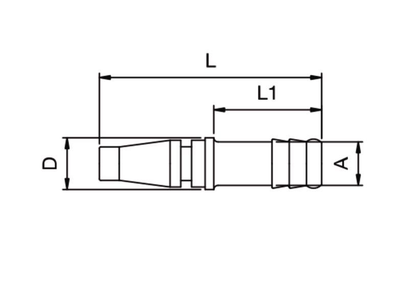 Szybkozłącze pneumatyczne Parker Rectus 17SFTF