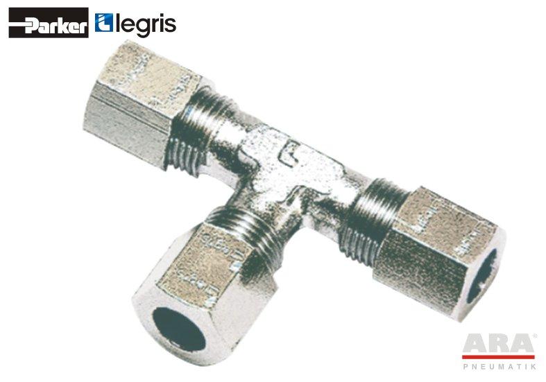 Trójnik pneumatyczny stalowy 316L zaciskany Parker Legris 1804