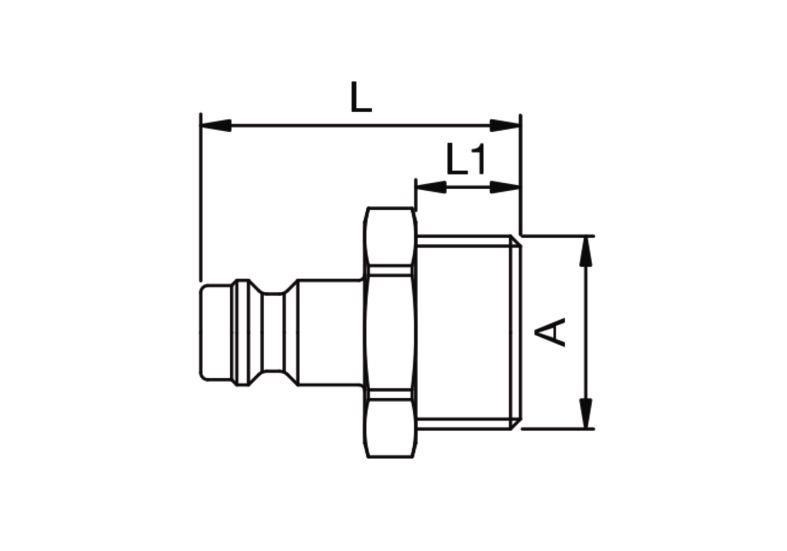 Szybkozłączka pneumatyczna Parker Rectus 21SFAW- wartości w tabeli 'Jak zamawiać'