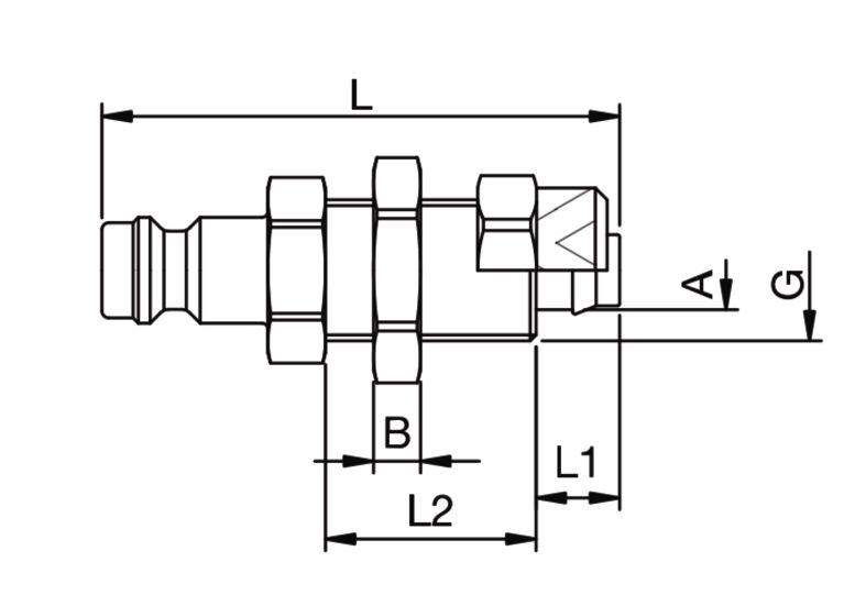 Szybkozłączka pneumatyczna Parker Rectus 21SFKO- wartości w tabeli 'Jak zamawiać'