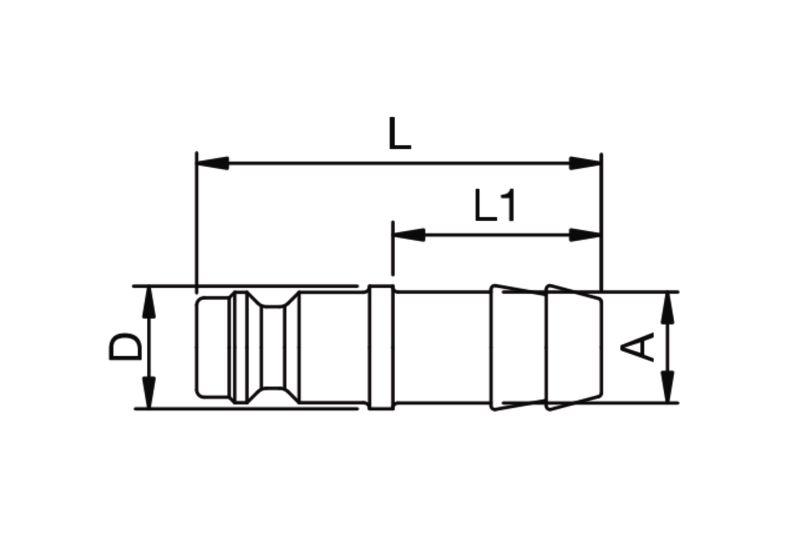 Szybkozłączka pneumatyczna Parker Rectus 21SFTF- wartości w tabeli 'Jak zamawiać'