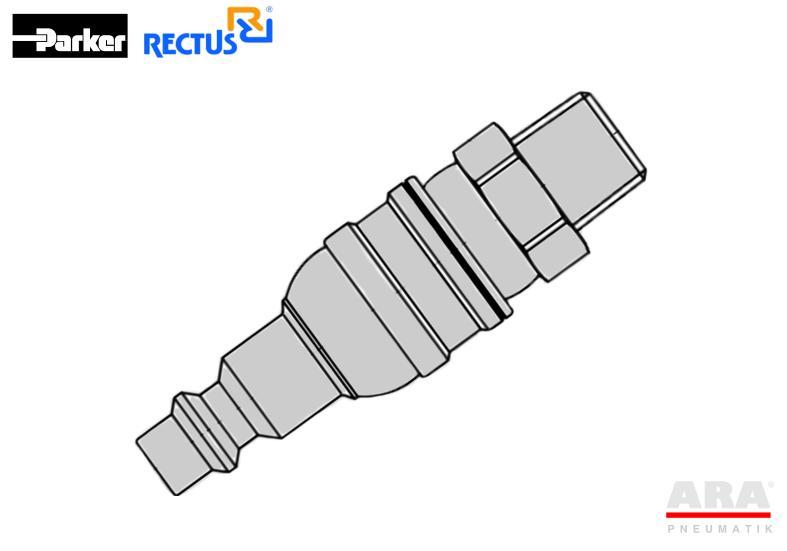 Szybkozłączka pneumatyczna Parker Rectus 23FAAK