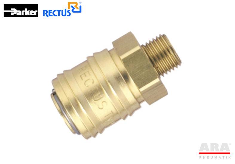 Szybkozłączka pneumatyczna Parker Rectus 24KAAW