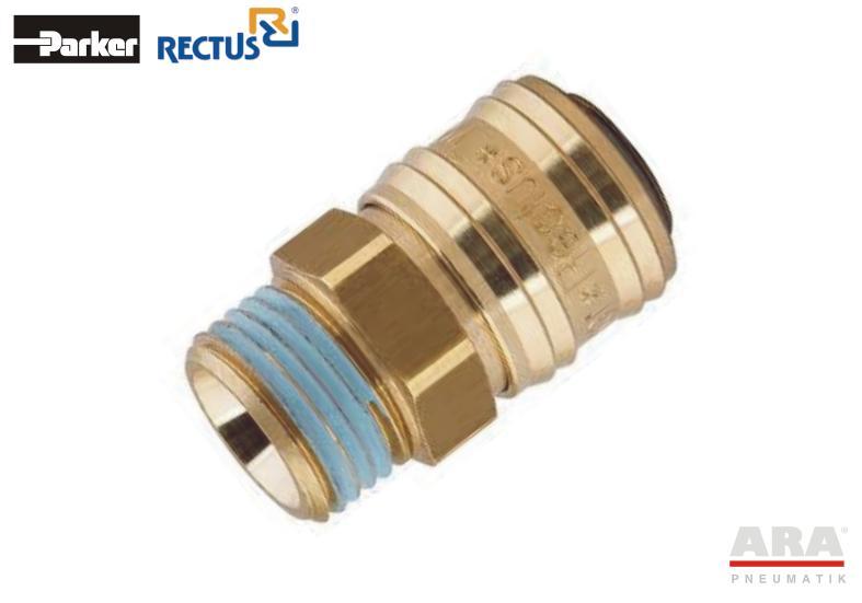 Szybkozłączka pneumatyczna Parker Rectus 26KAAW