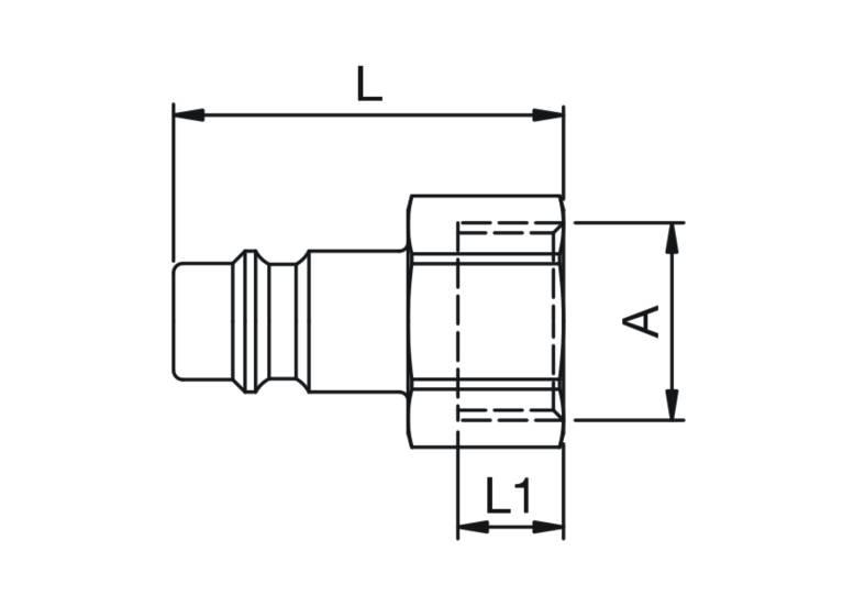 Szybkozłączka pneumatyczna Parker Rectus 26SFIW- wartości w tabeli 'Jak zamawiać'