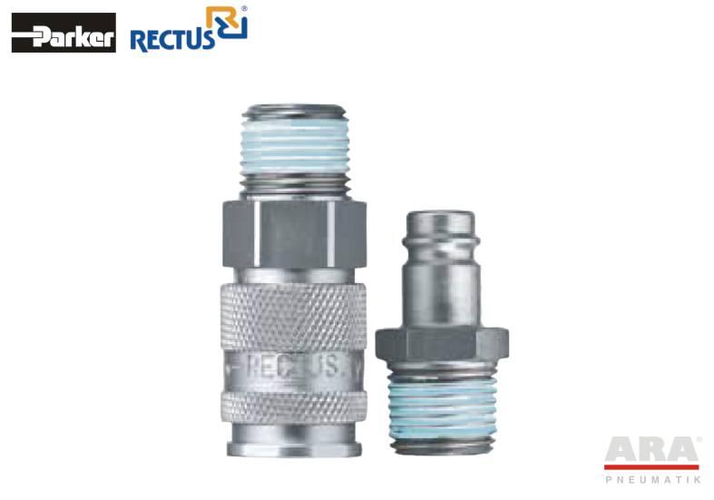 Szybkozłączka pneumatyczna Parker Rectus 27KA