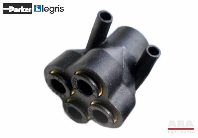 Kolektor pneumatyczny Y poczwórny Parker Legris LF3000 3144