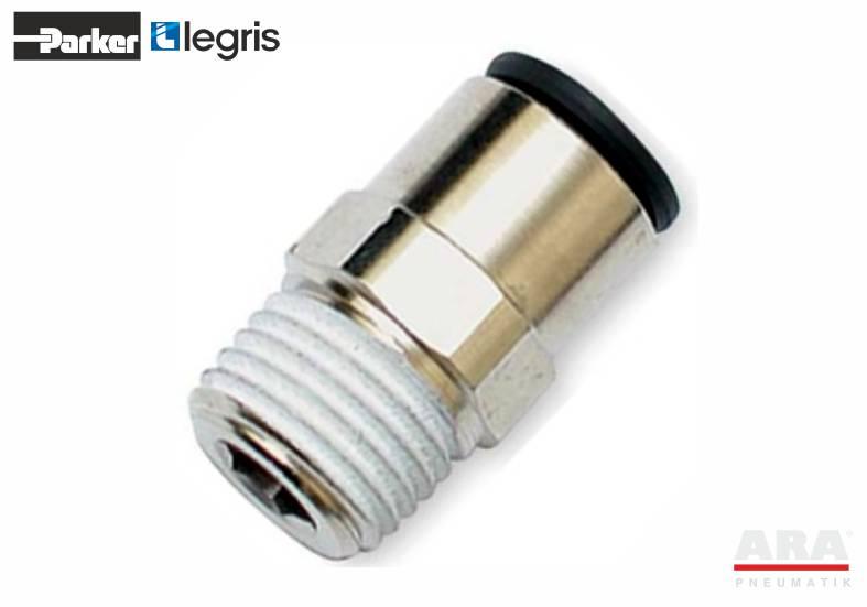 Złączka pneumatyczna prosta z gwintem Parker Legris LF3000 3175