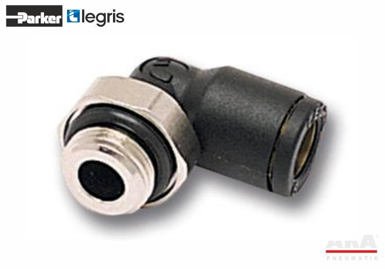 Złączka pneumatyczna kątowa z gwintem Parker Legris LF3000 3199