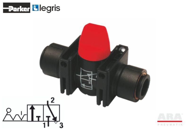 Zawór kulowy miniaturowy Parker Legris 7913