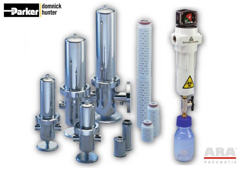 Filtry sprężonego powietrza sterylne Parker Dominick Hunter BIO-X