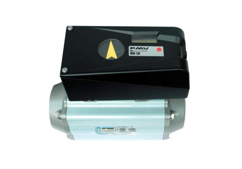 Zestaw pozycjonera cyfrowego Flowserve PMV D3 na napędzie obrotowym Air Torque