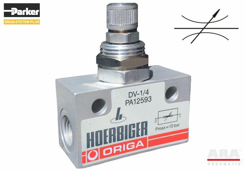 Zawór pneumatyczny dławiący Parker Origa DV