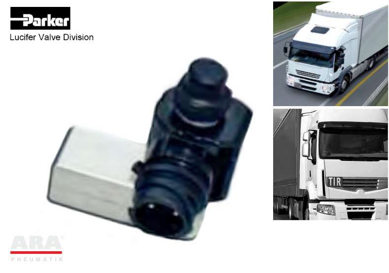 Eelektrozawór do SCR w autobusach i ciężarówkach (kontrola powietrza) Parker Lucifer