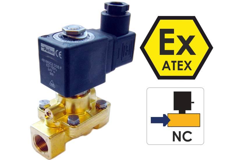 Elektrozawory do wody do stref atex NC zawory lucifer parker