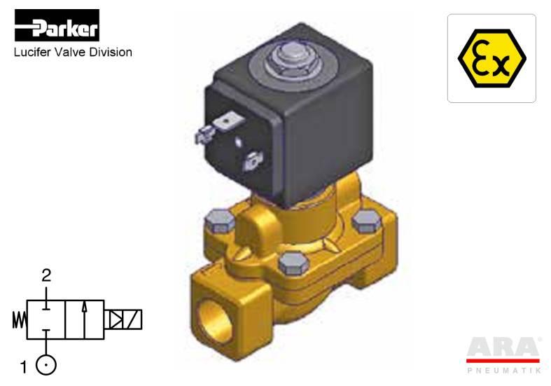 Elektrozawory parker lucifer do wody ATEX