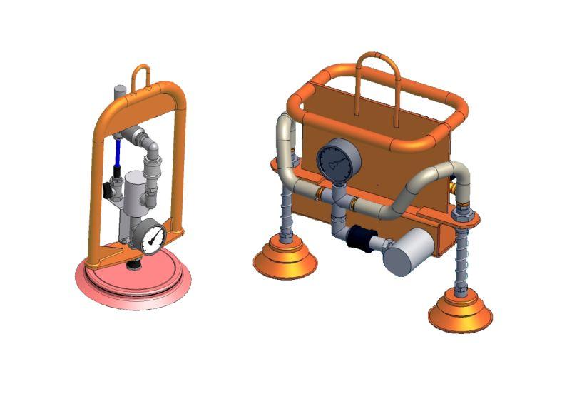Zawiesie próżniowe OC Classic do transportu bliskiego wiader, beczek, sprzętu AGD