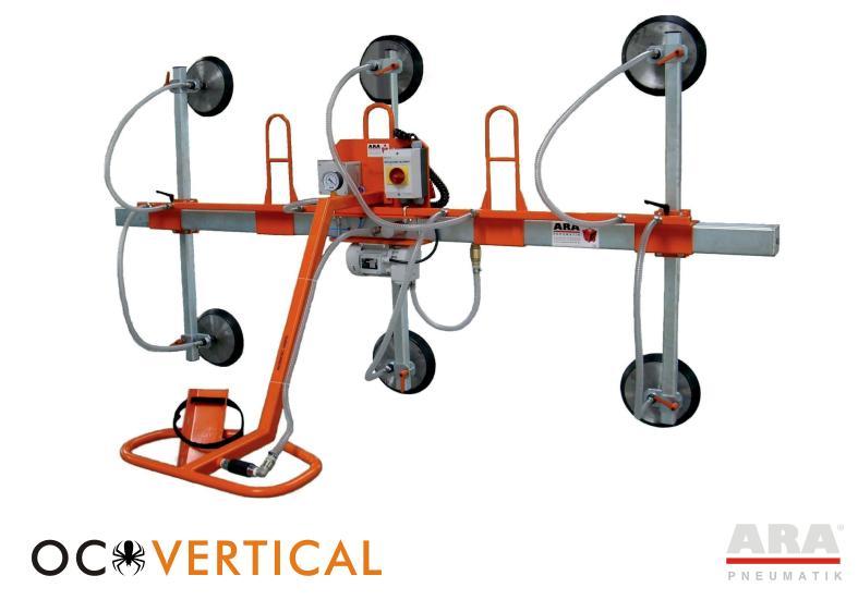 Zawiesie próżniowe OC Vertical do transportu bliskiego tafli szkła, okien, szyb