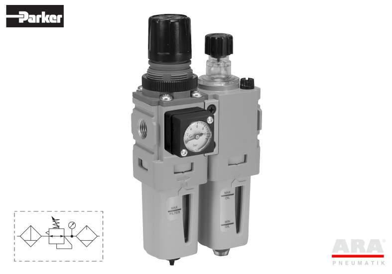 Filtr-regulator | smarownica przygotowania powietrza Parker Global Mini P31