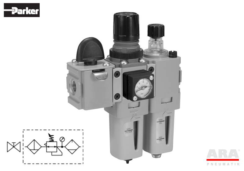 Filtr-regulator | smarownica | zawór Parker Global Mini P31