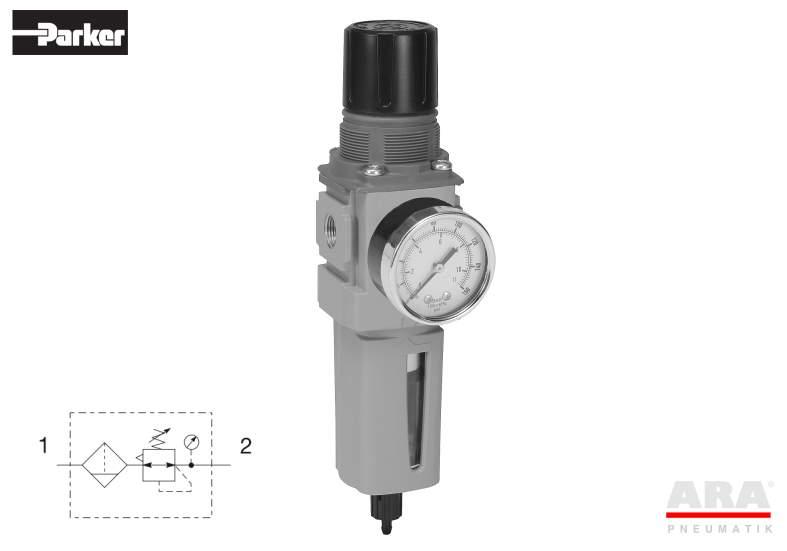 Filtr-regulator przygotowania powietrza Parker Global Compact P32