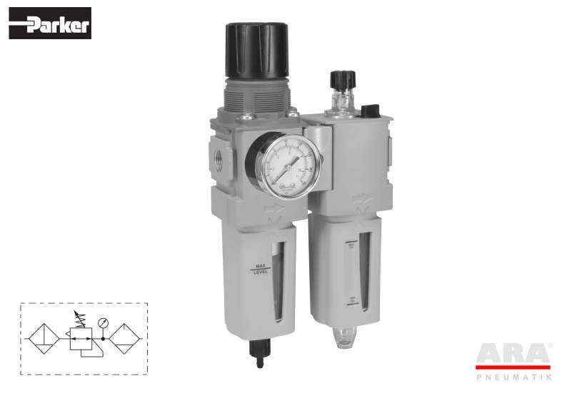Filtr-regulator | smarownica przygotowania powietrza Parker Global Compact P32