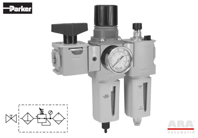 Filtr-regulator | smarownica | zawór Parker Global Compact P32