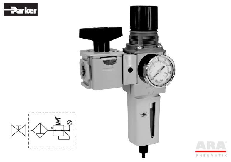 Filtr-regulator| zawór przygotowania powietrza Parker Global Compact P32