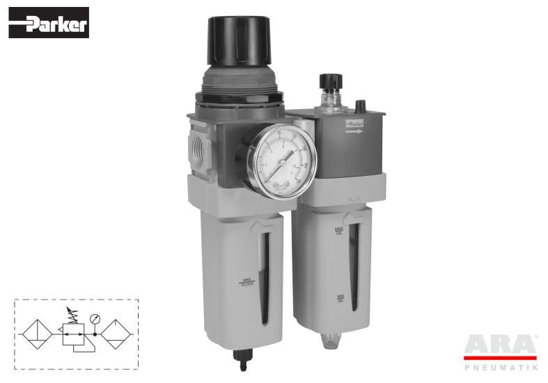 Filtr-regulator | smarownica przygotowania powietrza Parker Global Standard P33