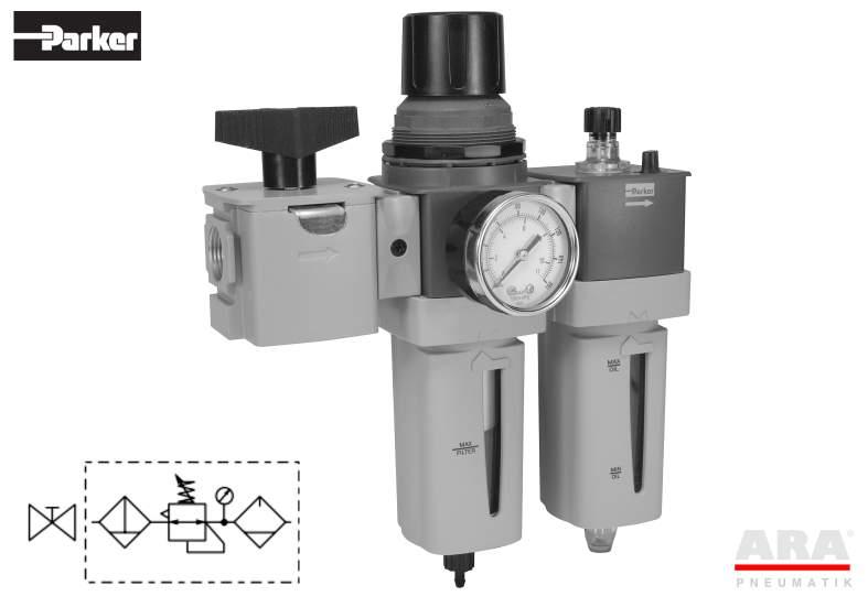 Filtr-regulator | smarownica | zawór przygotowania powietrza Parker Global P33