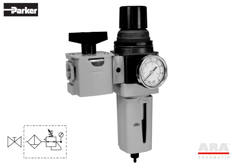 Filtr-regulator | zawór przygotowania powietrza Parker Global Standard P33