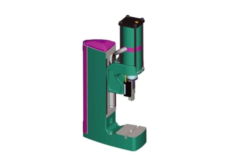 Prasa stołowa pneumatyczna Tox Pressotechnik PF z korpusem podwyższonym