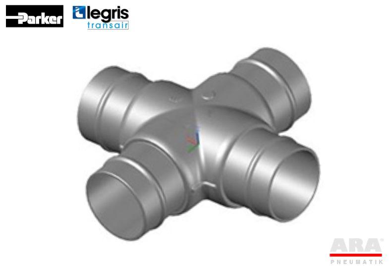 Czwórnik złączka kątowy do rur aluminiowych Legris Transair RA07