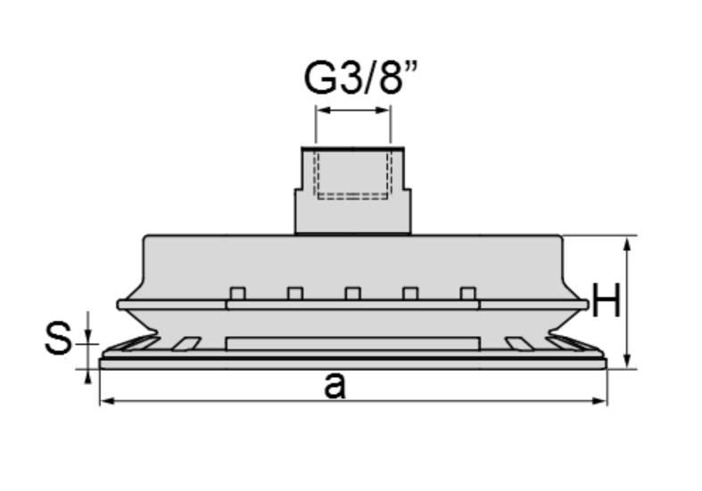 Wymiary ssawki SBOM 30x65/WG38÷ SBOM 70x140/WG38