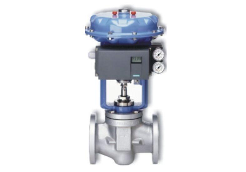 Przykład montażu ustawnika elektropneumatycznego Siemens Sipart PS2