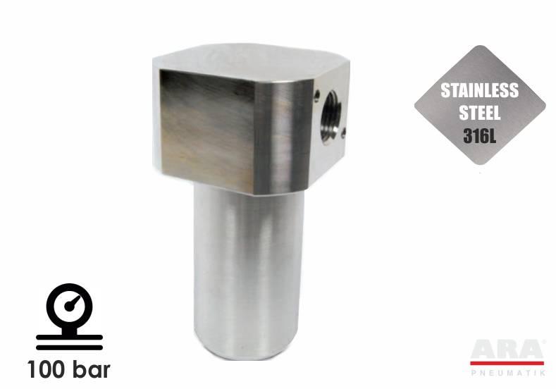 TCR10 - filtr sprężonego powietrza nierdzewny ze stali nierdzewnej 100bar
