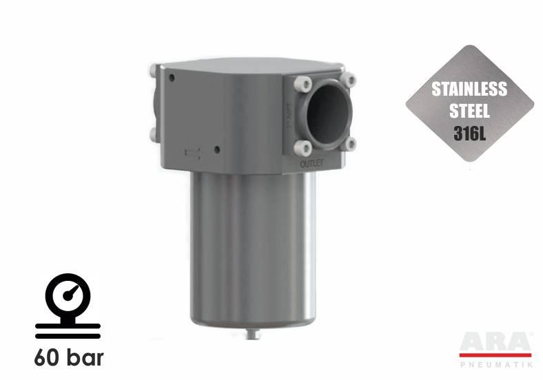 TCR6 - filtr sprężonego powietrza nierdzewny ze stali nierdzewnej