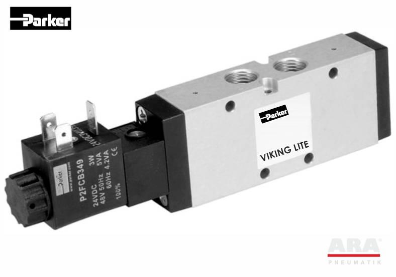 Zawory elektromagnetyczne 3/2 Parker Viking Lite