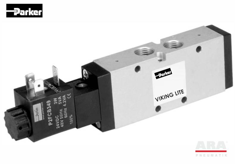 Zawory elektromagnetyczne 5/2 Parker Viking Lite